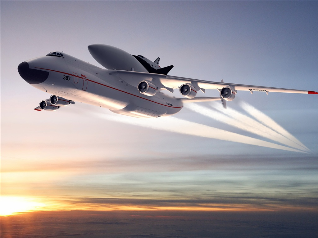 Ukrainian AN-225 Mria - the biggest and heaviest aircraft in the World.
